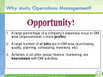 why study operations management