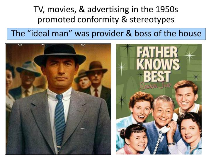 TV, movies, & advertising in the 1950s