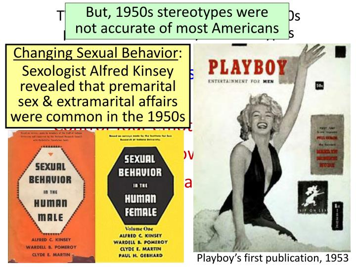 But, 1950s stereotypes were