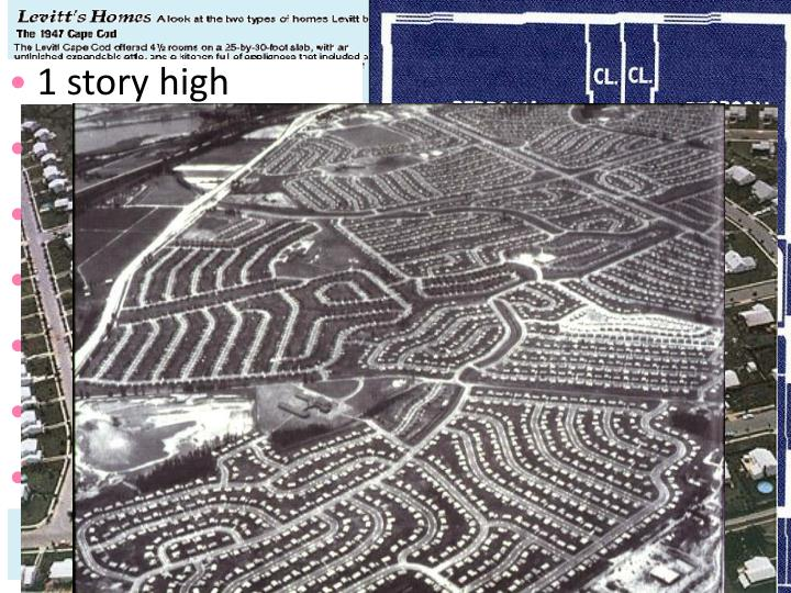 The desire for homes in the suburbs led to massive communities like