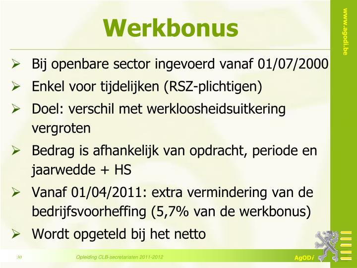 Werkbonus