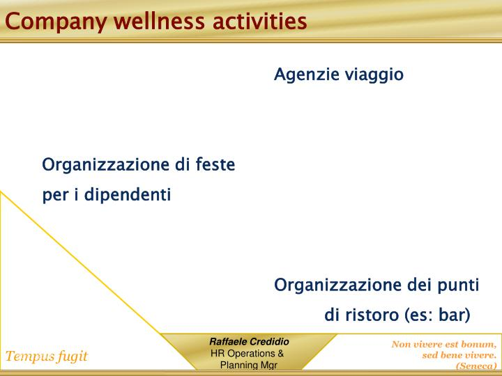 Company wellness activities
