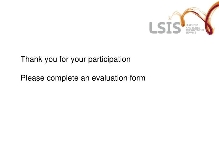 Thank you for your participation