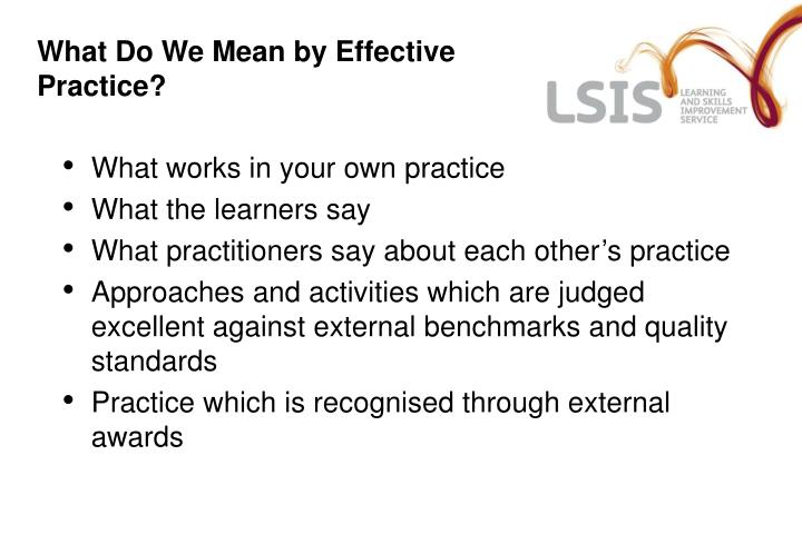 What Do We Mean by Effective