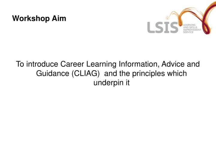Workshop aim
