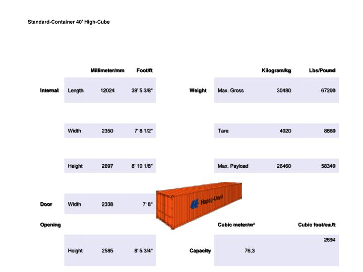 Standard-Container 40'High-Cube
