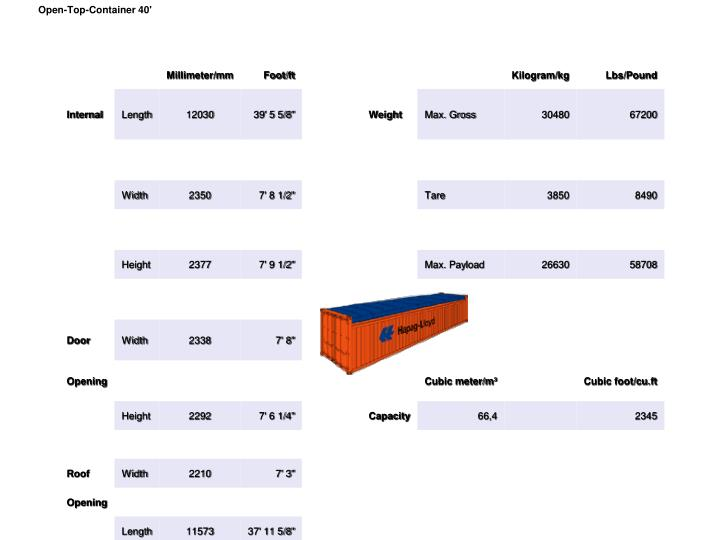 Open-Top-Container 40'