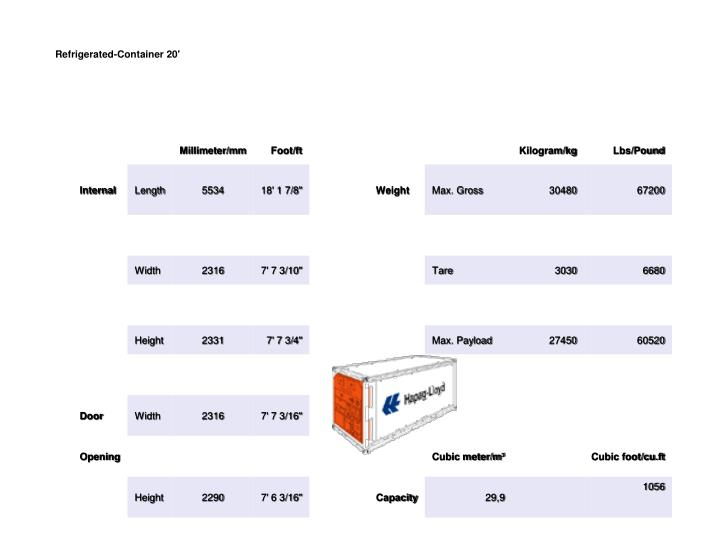 Refrigerated-Container 20'