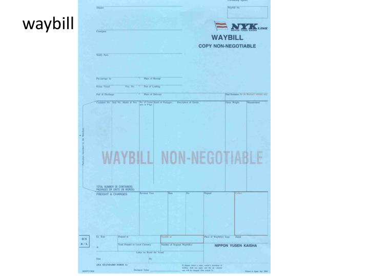 waybill