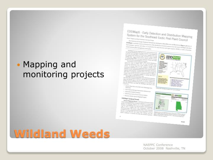Mapping and monitoring projects