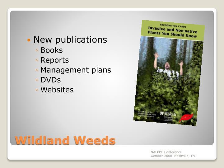 New publications