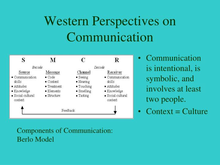 Western Perspectives on Communication