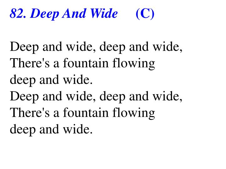 82. Deep And Wide