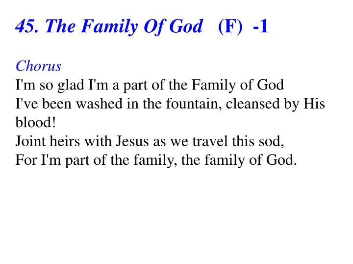 45. The Family Of God