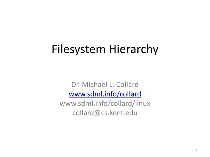 filesystem hierarchy