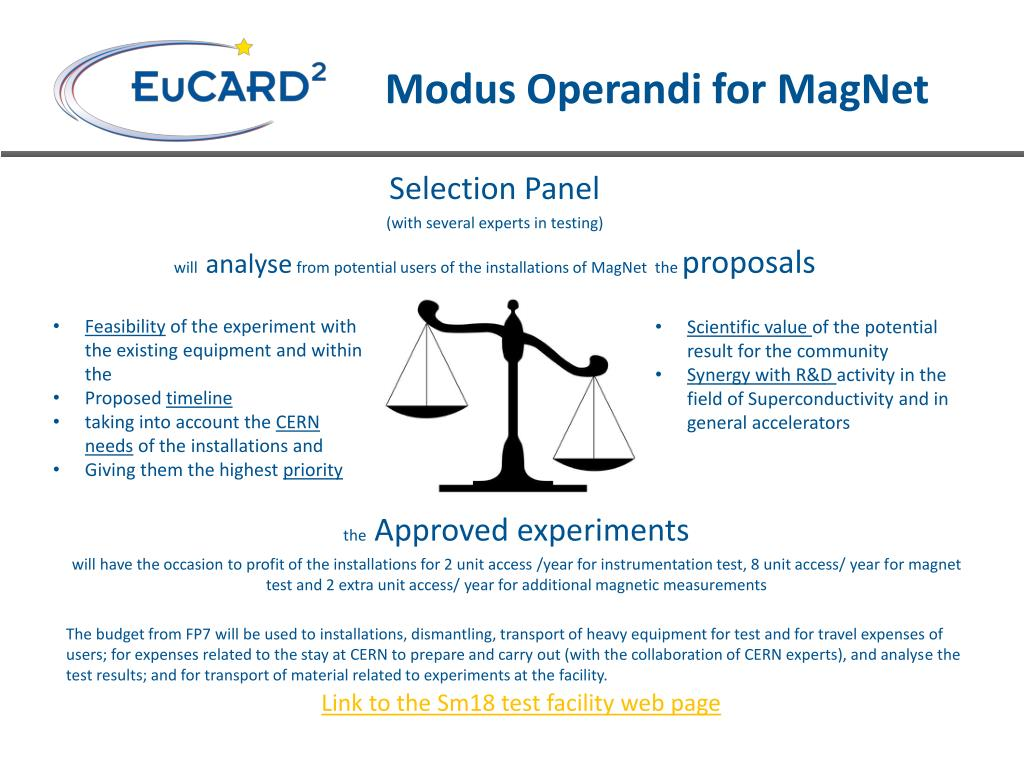 PPT - Transnational Access MagNet @CERN WP9b PowerPoint