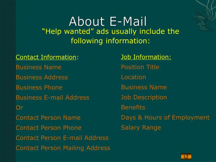 About e mail
