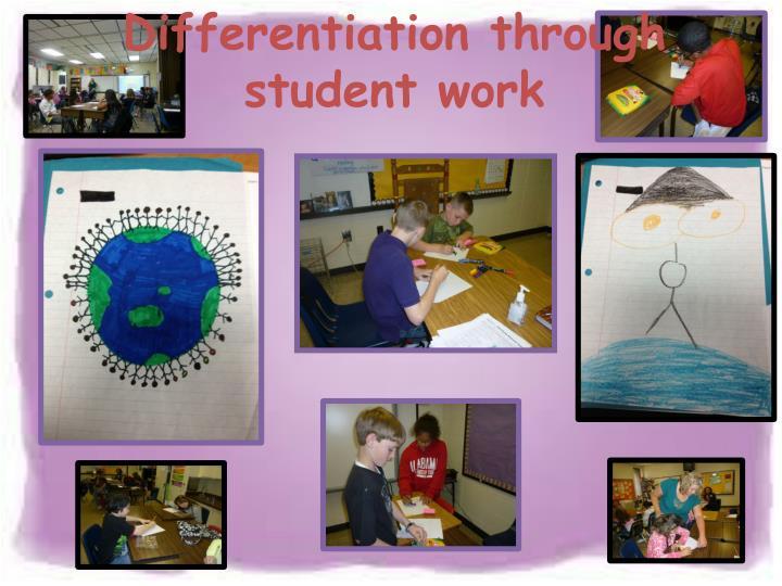 Differentiation through student work