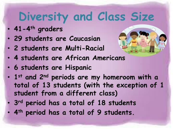 Diversity and Class Size