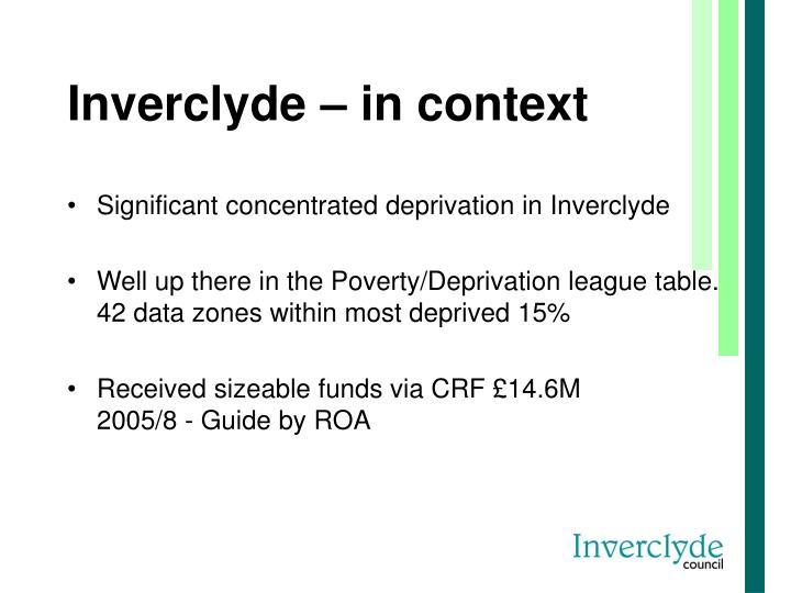 Inverclyde – in context