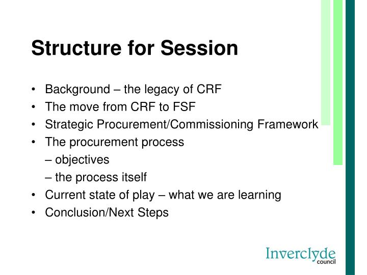 Structure for session
