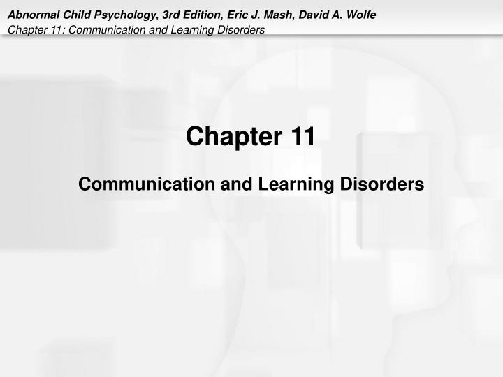 chapter 11 communication and learning disorders n.