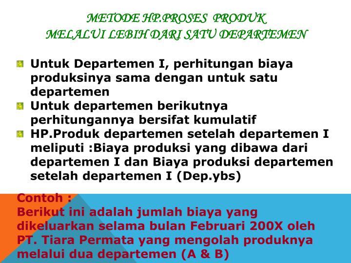 Metode HP.Proses  Produk