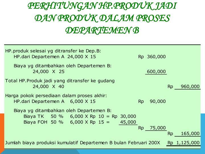 Perhitungan Hp.Produk Jadi
