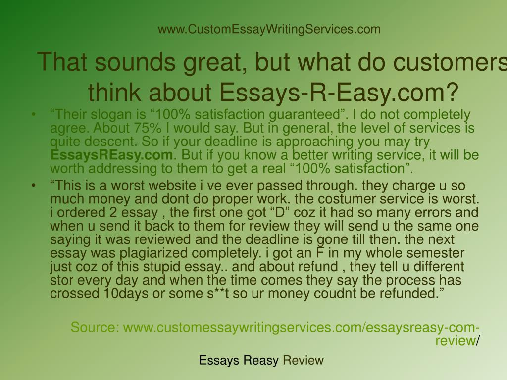 What is a custom essay