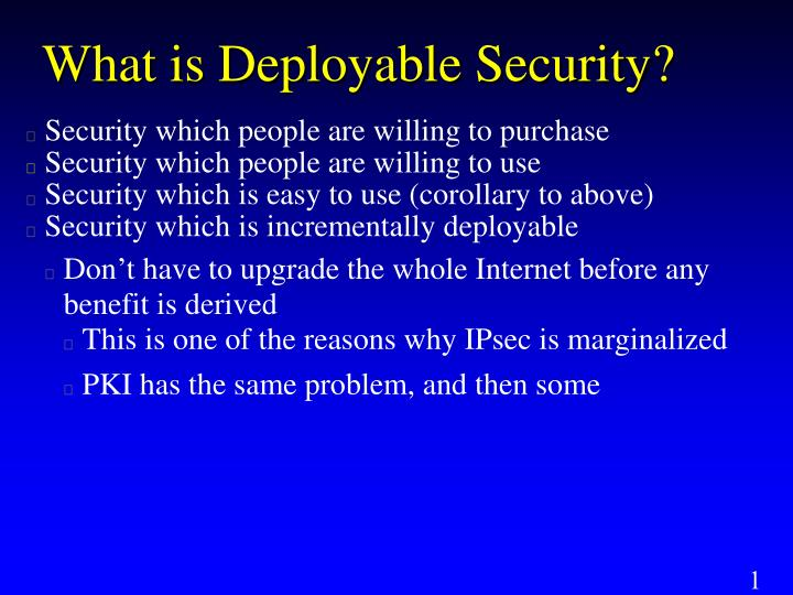 What is Deployable Security?