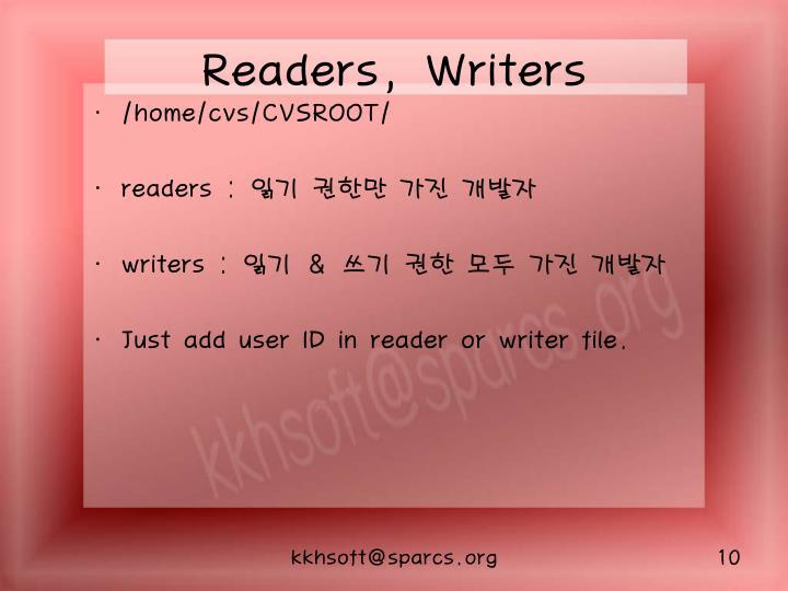 Readers, Writers