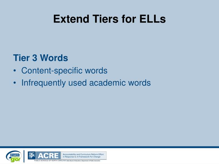 Extend Tiers for ELLs
