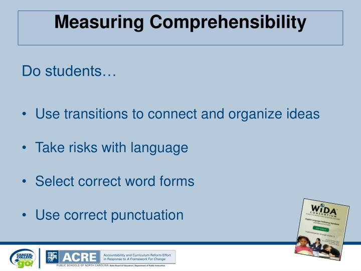 Measuring Comprehensibility
