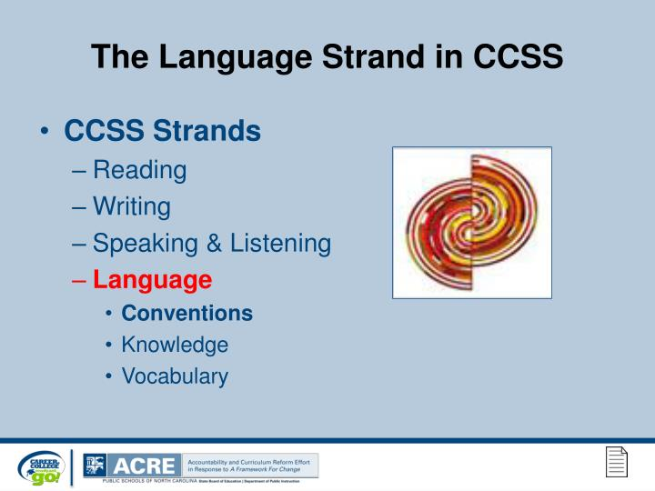 The Language Strand in CCSS