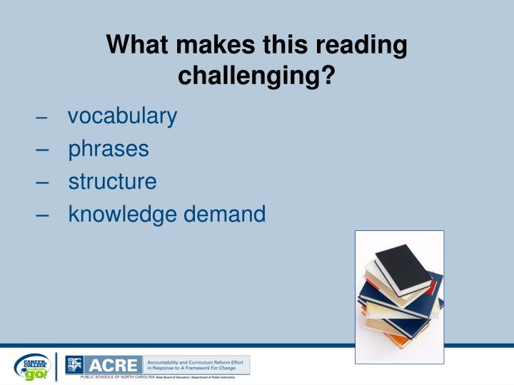 What makes this reading challenging?