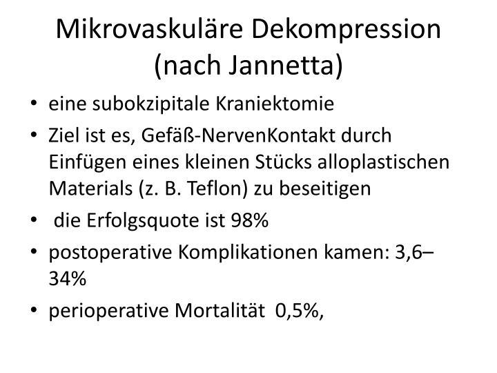 Mikrovaskuläre Dekompression (nach Jannetta)