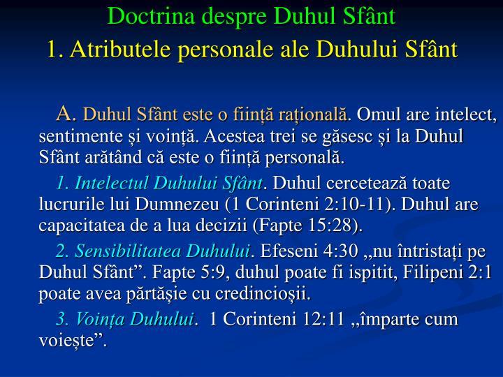Doctrina despre Duhul Sfânt