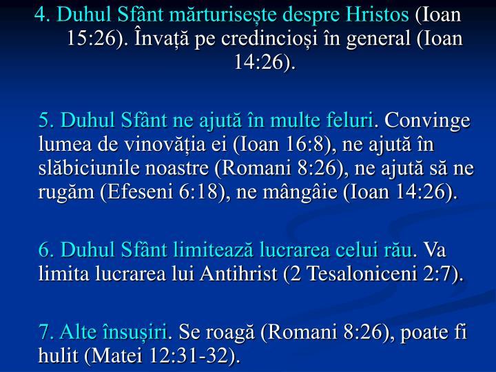 4. Duhul Sfânt mărturisește despre Hristos