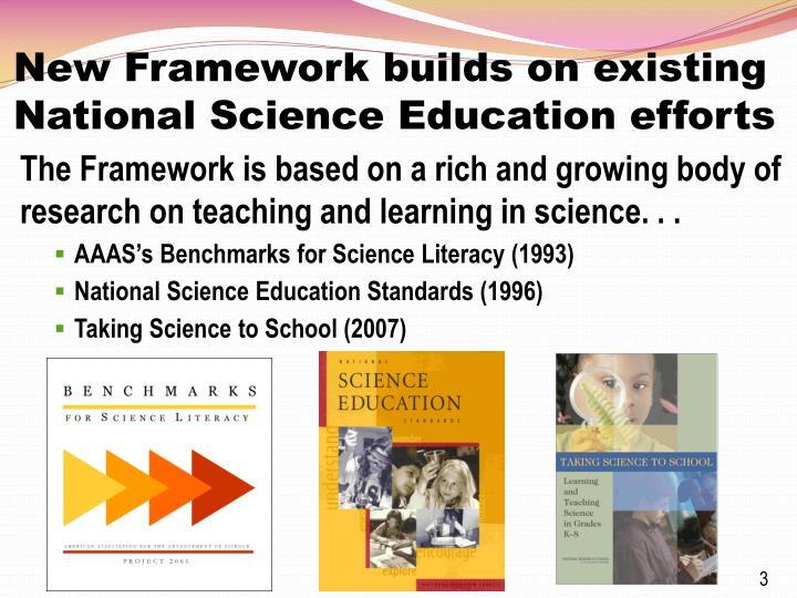 New framework builds on existing national science education efforts