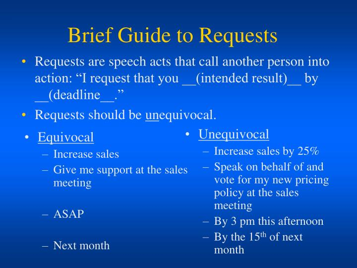 brief guide to requests n.