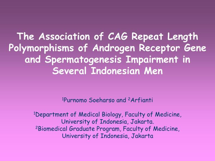 The Association of CAG Repeat Length