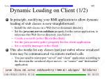 dynamic loading on client 1 2