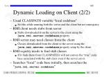 dynamic loading on client 2 2