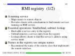 rmi registry 1 2