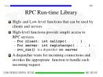 rpc run time library