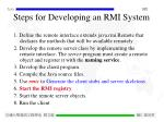 steps for developing an rmi system