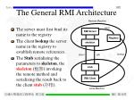 the general rmi architecture