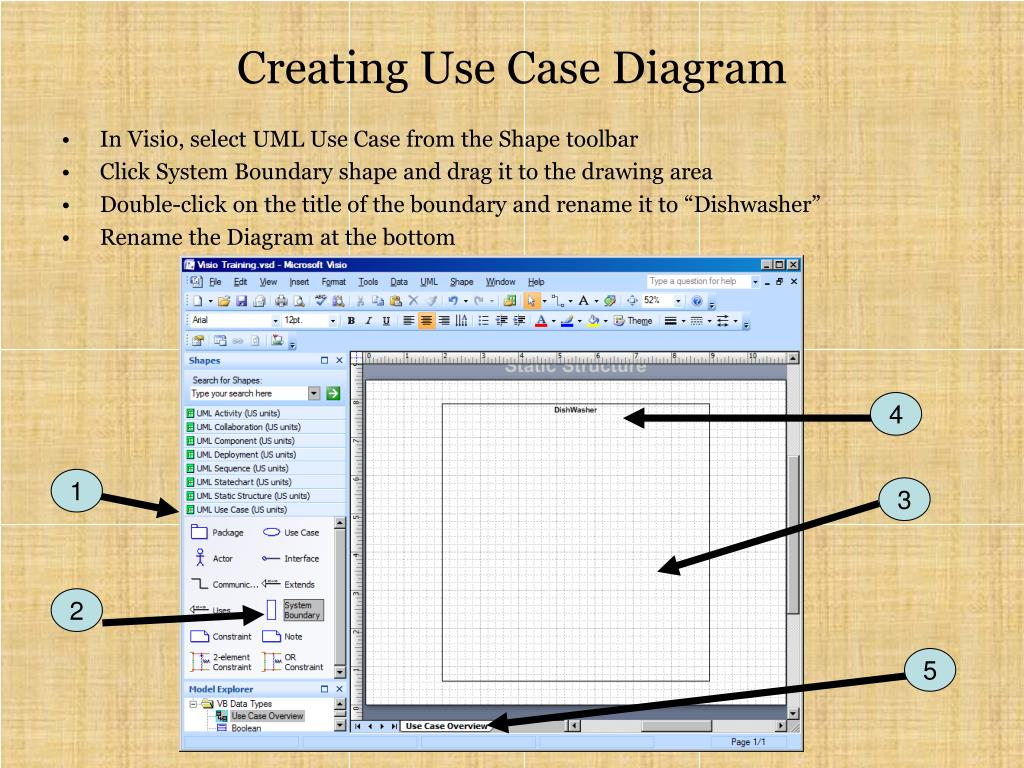 PPT - Visio 2007 for UML Tutorial PowerPoint Presentation