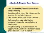 adaptive selling and sales success