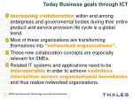 today business goals through ict